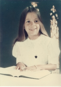 Kim's 1st communion portrait